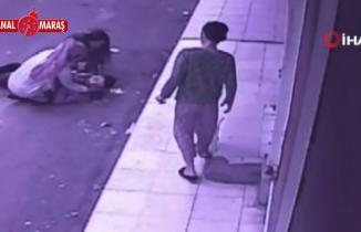 Kahramanmaraş'ta balkondan düşen adam kamerada