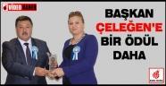 Başkan Nursi Çeleğen'e yılın ödülü verildi