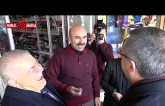 Başkan Mahçiçek ve Büyükşehir Başkan adayı Hayrettin Güngör'den esnaf ziyareti