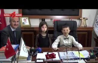 Başkan Okay 23 Nisan nedeniyle koltuğunu devretti