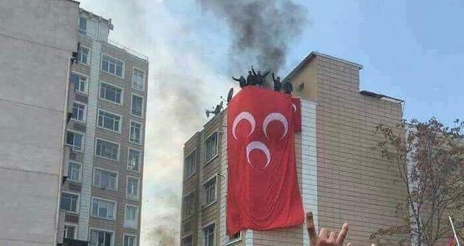 Kayseri'de HDP Binası yakıldı
