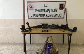 Kahramanmaraş'ta kaçak kazı yaparken jandarmaya yakalandılar