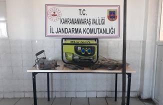 Kahramanmaraş'ta jeneratörlü define avcıları yakalandı