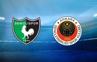 Denizlispor - Gençlerbirliği maçı (CANLI İZLE)