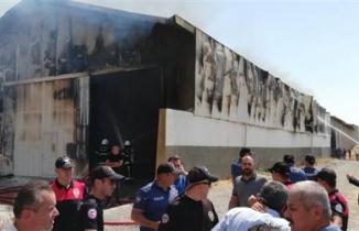 Kahramanmaraş'ta dev fabrika yangın