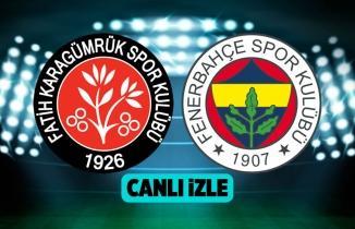 Fatih Karagümrük Fenerbahçe CANLI: Fenerbahçe Fatih Karagümrük Bedava Şifresiz Bein Sports 1 HD izle