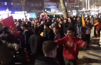 Kahramanmaraş'ta Galatasaray galibiyeti coşkuyla kutlandı