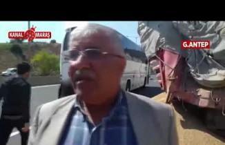 Gaziantep'te yolcu otobüsü TIR'a çarptı!
