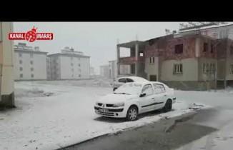 Göksun'a mevsimin ilk karı yağdı!