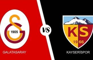 Galatasaray Kayserispor maçı özeti ve golleri