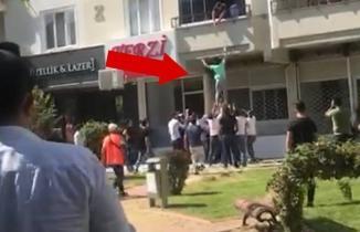 Kahramanmaraş'ta balkondan düşen kadını çevredekiler kurtardı!