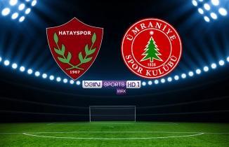 Beinsports Max 1 canlı izle şifresiz, Hatayspor Ümraniyespor maçı izle