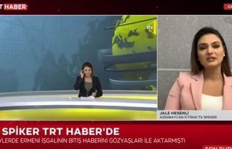 Haberi verirken duygulanan Azerbaycanlı spiker konuştu