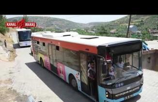 """""""İki il, bir gönül"""" projesi kapsamında öğrenciler Türkoğlu ilçesini ziyaret etti"""