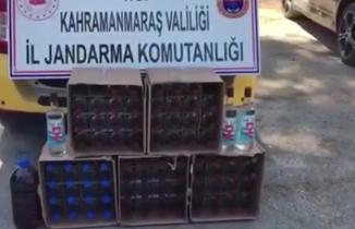 Kahramanmaraş'ta 80 şişe kaçak içki ele geçirildi!