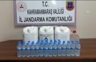 Kahramanmaraş'ta jandarma'dan kaçak içki operasyonu