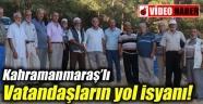 Pınarbaşı mahalle sakinlerinin yol isyanı