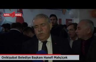 Kahramanmaraş'ta AK Parti'den miting gibi seçim ofisi açılışı
