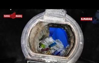 Kahramanmaraş'ta bekar evine uyuşturucu baskını!