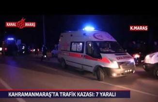 Kahramanmaraş'ta çarpışan otomobiller kanala uçtu: 7 kişi yaralı