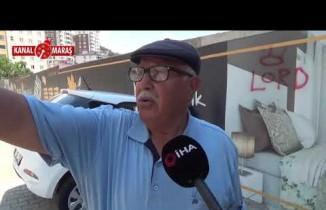 Kahramanmaraş'ta freni boşalan sürücüsüz otomobil inşaat duvarına çarptı