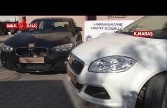 Kahramanmaraş'ta İnterpol'un aradığı ikizi yapılan lüks otomobil bulundu