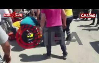 Kahramanmaraş'ta kazada motosiklet sürücüsünün ayağı koptu!