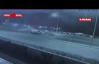 Kahramanmaraş'ta korkunç kaza kameralara yansıdı!