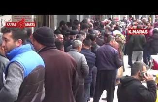 Kahramanmaraş'ta metrelerce işçi kuyruğu...