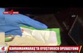 Kahramanmaraş'ta narkotik operasyonu: Yüklü miktarda uyuşturucu ele geçirildi