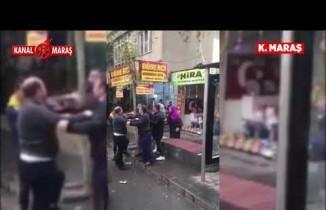 Kahramanmaraş'ta otobüs durağında tartışma