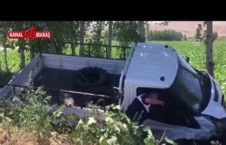 Kahramanmaraş'ta otomobil ile kamyonet çarpıştı!