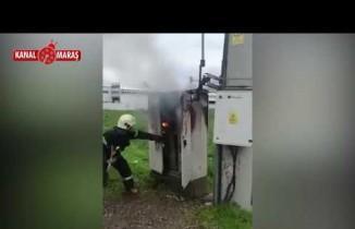 kahramanmaraş'ta patlayan trafo cayır cayır yandı!