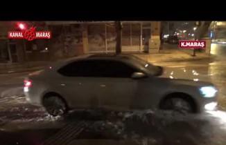 Kahramanmaraş'ta şebeke suyu hattı patladı