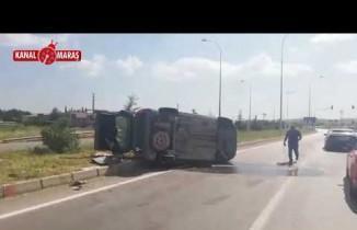 Kahramanmaraş'ta ticari araç yan yattı! 1 ölü, 4 yaralı