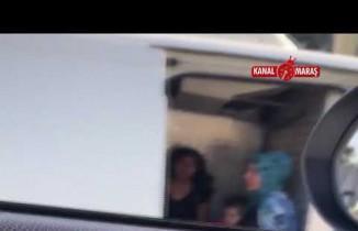 Kahramanmaraş'ta trafikte tehlikeli yolculuk kamerada!