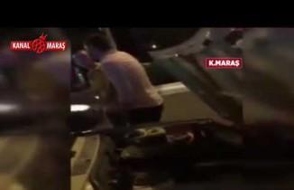 Kahramanmaraş'ta trafikte yüksek sesten ceza kesilen sürücü drift yaparak tepki gösterdi