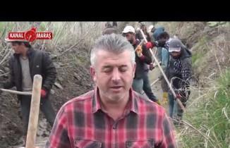 Kahramanmaraşlı çiftçilerin 'imece usulü' tarlalarına su ulaştırma çabası