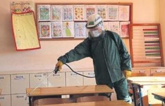 Kahramanmaraş'ta okullarda korona virüse karşı temizlik