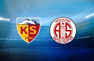 Kayserispor - Antalyaspor maçı (CANLI İZLE)