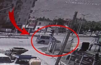 Kahramanmaraş'ta feci kaza kamerada!