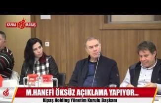 Kipaş Holding Yönetim Kurulu Başkanı Hanefi Öksüz açıklamalarda bulundu