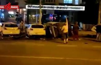 Kahramanmaraş'ta feci kaza: Park halindeki araçlara çarptı