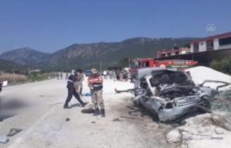 Kahramanmaraş'ta alev alan otomobilde 2 kişi öldü!