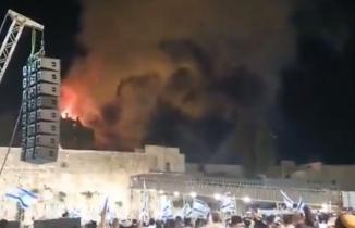 Vicdansız bunlar: Mescid-i Aksa'da çıkan yangını izleyip kutladılar