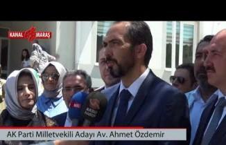 Milletvekili Adayı Özdemir: ''Bu ülkemizin artık bir dönüm noktası''