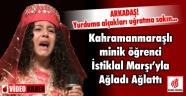 Minik kız İstiklal Marşı'nı okurken ağladı ve ağlattı
