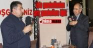 Başkan Mahçiçek'in düzenlediği Gazeteciler gününde Konuşan gazeteciler