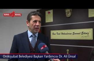 Onikişubat Belediyesi Başkan Yardımcısı Dr. Ali Ünsal Hekimlerin bayramını kutladı