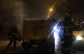 Kahramanmaraş'ta otomobil yangını panik yarattı